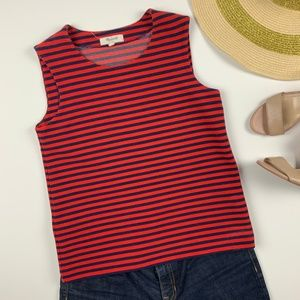 Madewell Striped Sleeveless Tank Ribbed